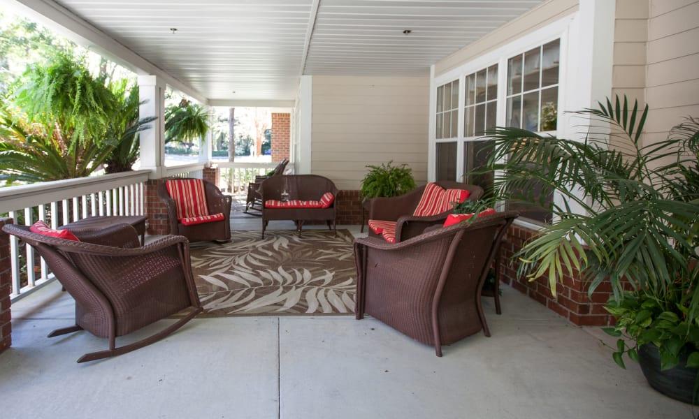 Seating at Harbor Cove Memory Care in Hilton Head, South Carolina