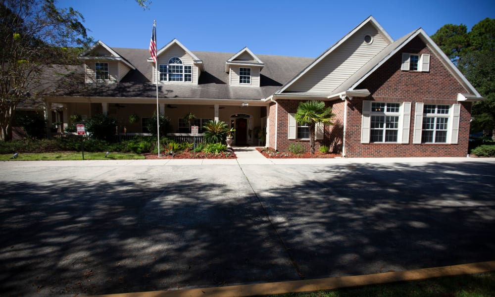 Main entrance to Village Cove Assisted Living in Hilton Head, South Carolina