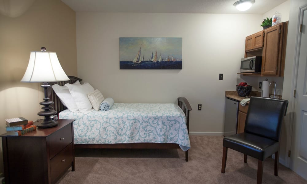 Private living space at Village Cove Assisted Living in Hilton Head, South Carolina