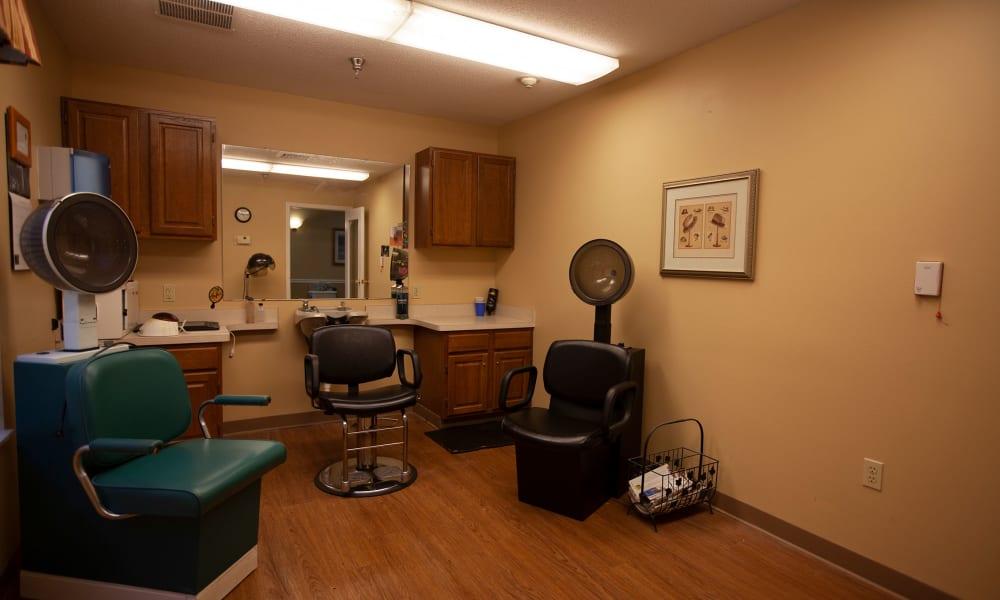 Hair Salon at Village Cove Assisted Living in Hilton Head, South Carolina