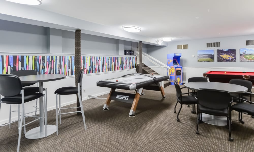 Clubhouse Game Room at Sherwood Crossing Apartments & Townhomes in Philadelphia, PA