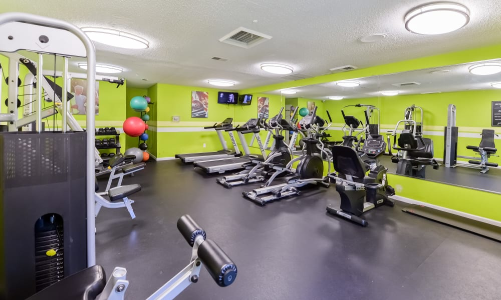 Enjoy Apartments with a Fitness Center at Sherwood Crossing Apartments & Townhomes