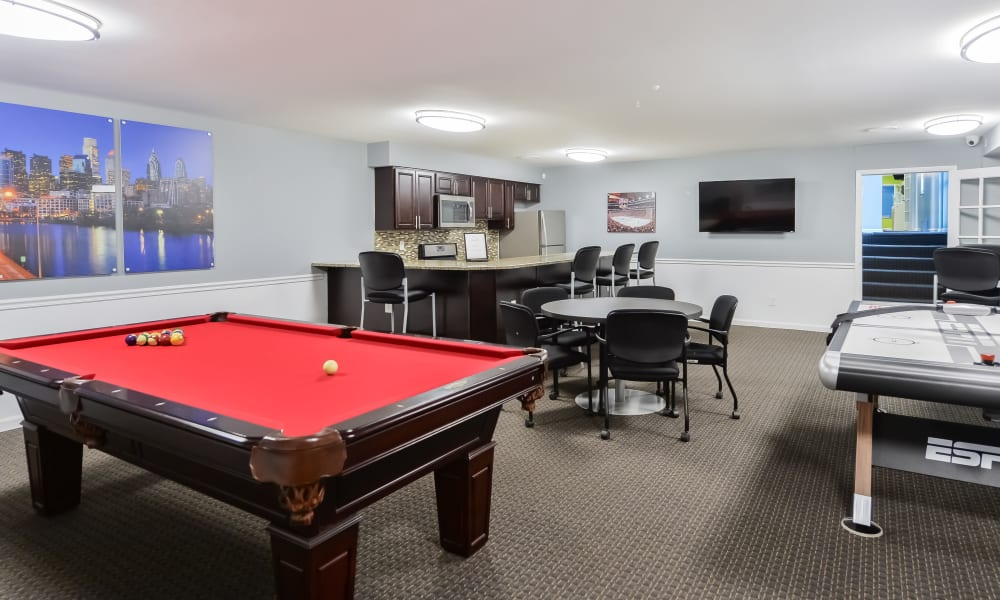 Clubhouse Game Room at Sherwood Crossing Apartments & Townhomes in Philadelphia, Pennsylvania