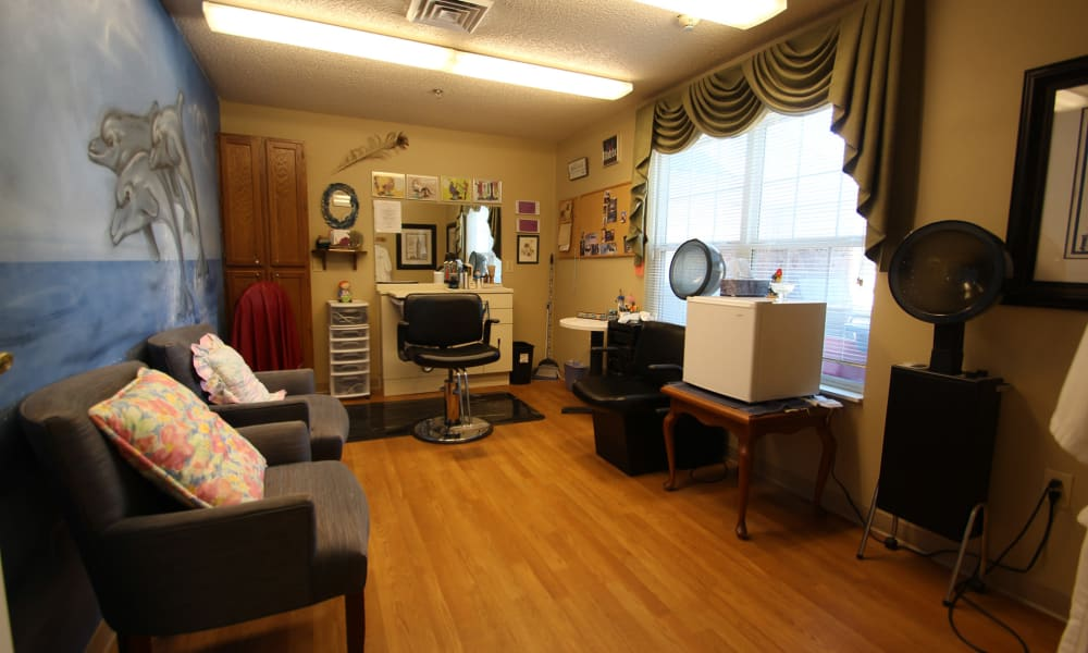 Hair salon at Chandler Place Independent Living in Rock Hill, South Carolina