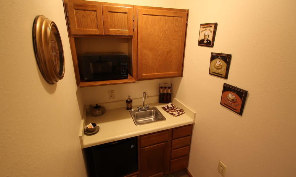 In-unit kitchen at Chandler Place Independent Living in Rock Hill, South Carolina