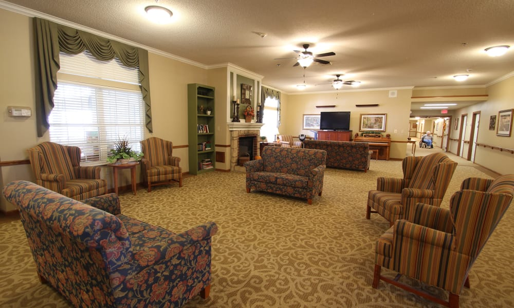 lounge seating area at Chandler Place Independent Living in Rock Hill, South Carolina