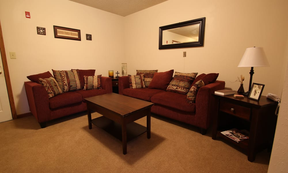 living room in a living space at Chandler Place Independent Living in Rock Hill, South Carolina