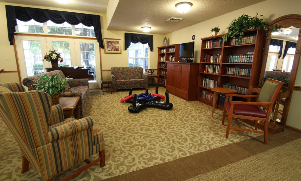 Library at Chandler Place Independent Living in Rock Hill, South Carolina