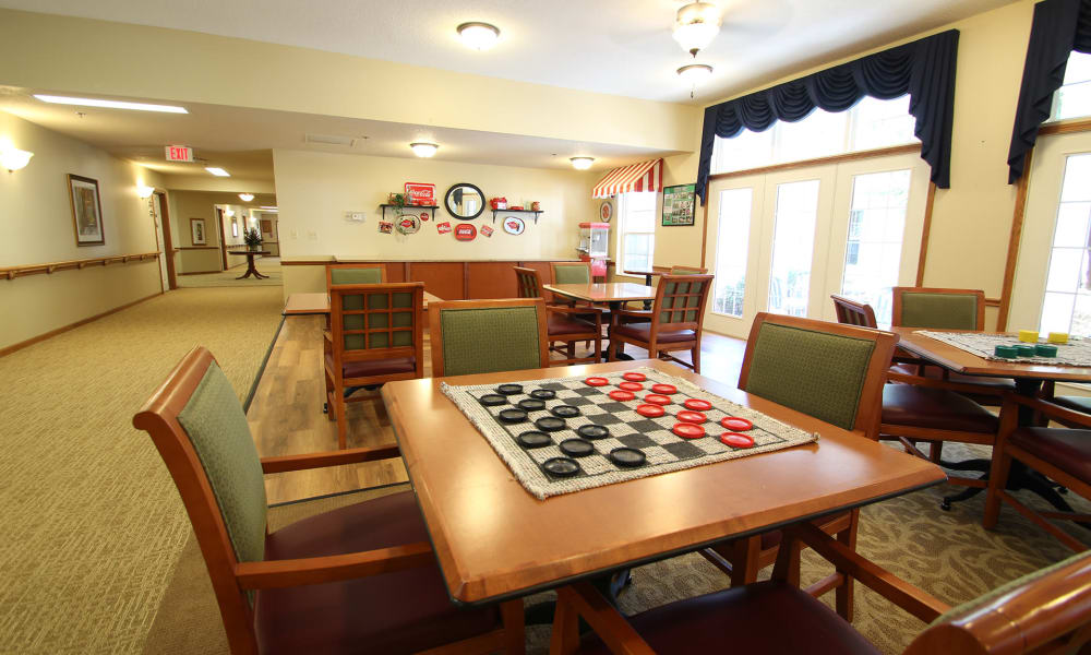 Game Room at Chandler Place Independent Living in Rock Hill, South Carolina