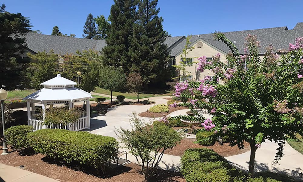 Outside area at Blossom Vale Senior Living in Orangevale, California