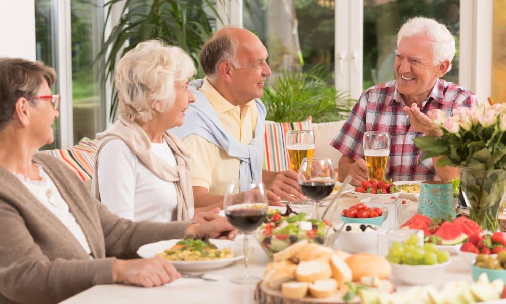 Residents dining at Blossom Vale Senior Living in Orangevale, California
