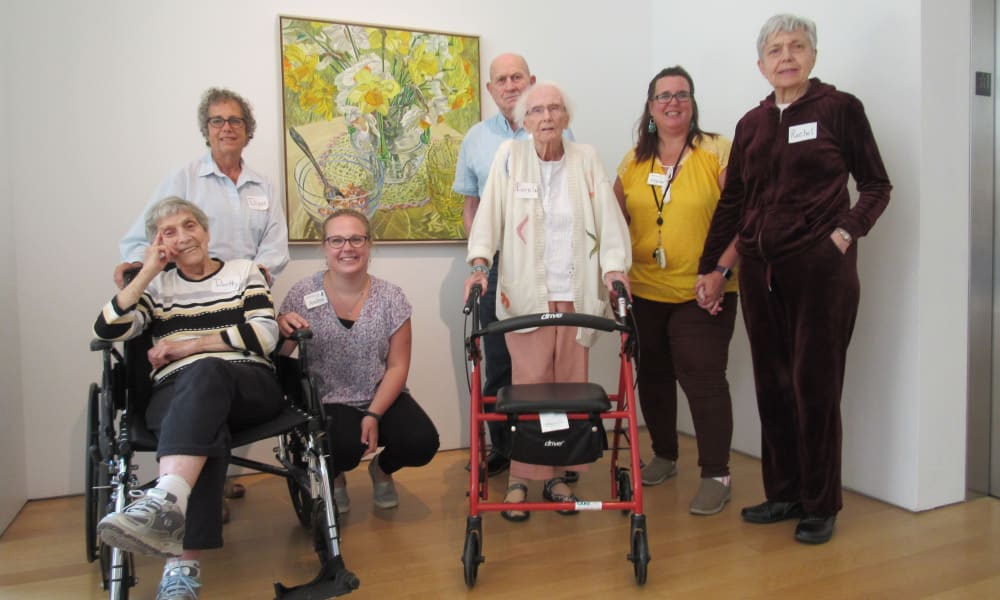 senior residents and staff group photo