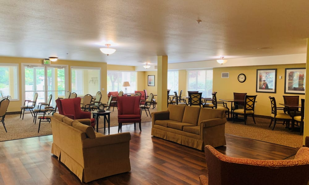 Greeting area at Maple Ridge Senior Living