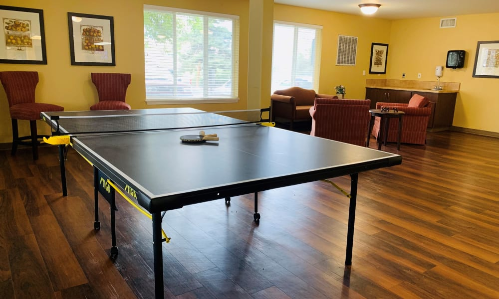 Gameroom at Maple Ridge Senior Living