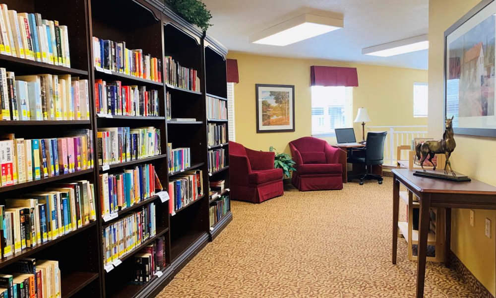 Library at Maple Ridge Senior Living