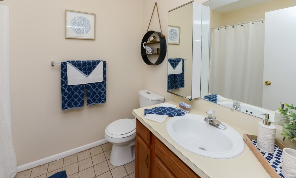 Bathroom at Sherwood Village Apartment & Townhomes in Eastampton, New Jersey