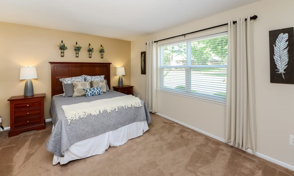 Beautiful Bedroom at Sherwood Village Apartment & Townhomes in Eastampton, New Jersey