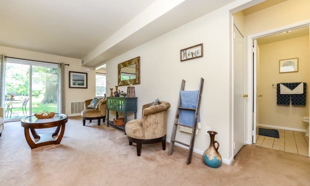 Living Room at Sherwood Village Apartment & Townhomes in Eastampton, New Jersey