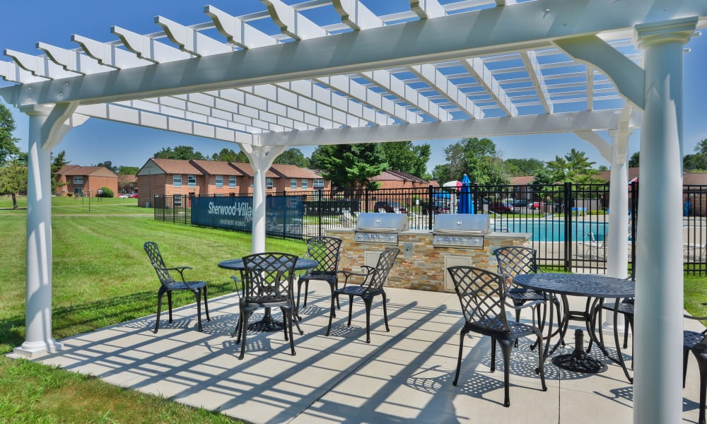 Enjoy Apartments with a n Outdoor Lounge at Sherwood Village Apartment & Townhomes