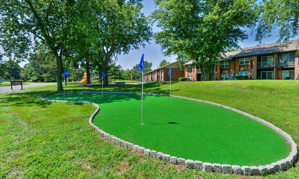 Our Apartments in Eastampton, New Jersey has a Putting Green