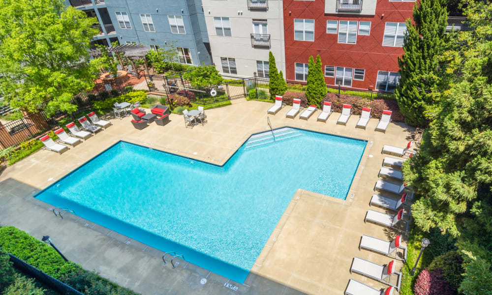 Large resident swimming pool at City View in Atlanta, Georgia.