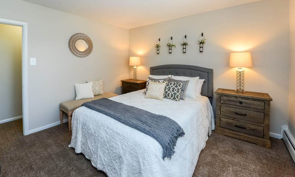 Cozy Bedroom at Roberts Mill Apartments & Townhomes in Maple Shade, New Jersey