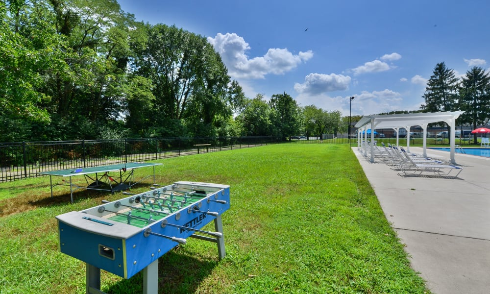 Outdoor Foosball Table at Roberts Mill Apartments & Townhomes in Maple Shade, New Jersey
