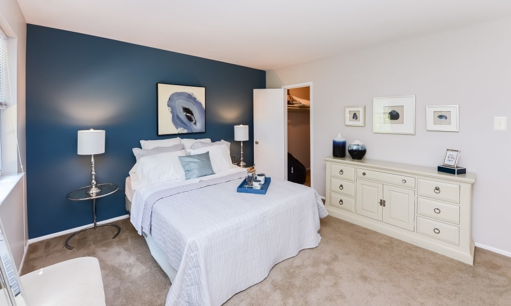 Bedroom at Brookside Manor Apartments & Townhomes in Lansdale, Pennsylvania