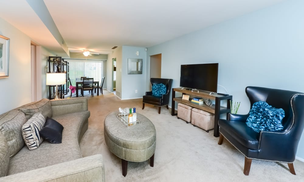 Living Room at Brookside Manor Apartments & Townhomes in Lansdale, Pennsylvania