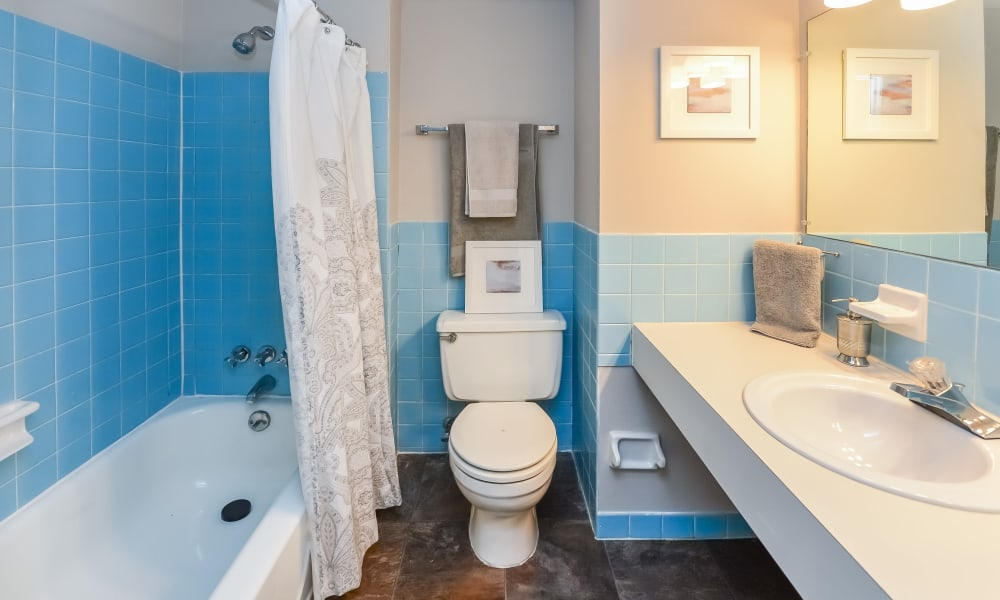Bathroom at Brookside Manor Apartments & Townhomes in Lansdale, Pennsylvania