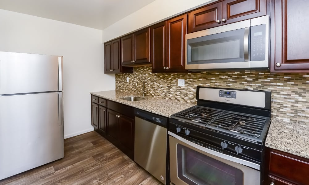 Kitchen at Brookside Manor Apartments & Townhomes in Lansdale, PA