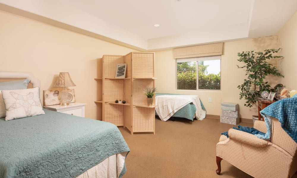 Shared suite with a large window at Vista Gardens in Vista, California