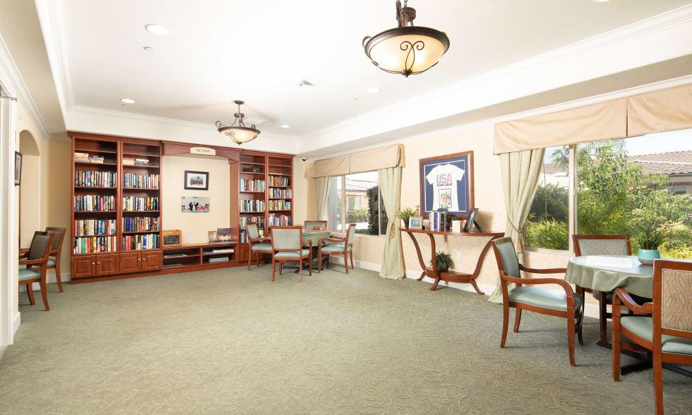 Library at Vista Gardens in Vista, California