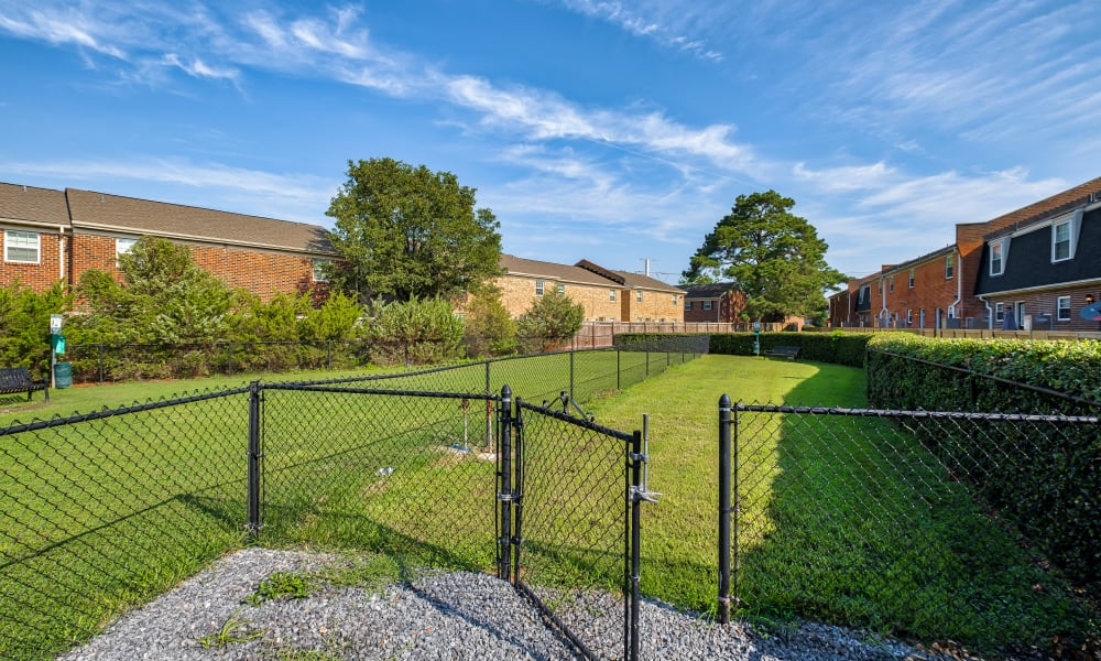 Dog Park at Maple Bay Townhomes in Virginia Beach, Virginia