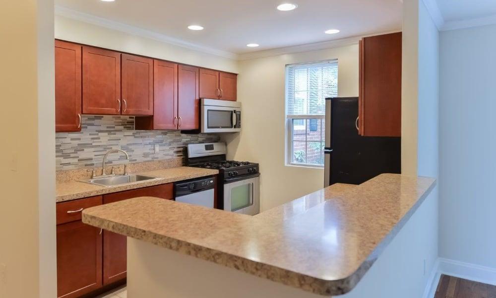 Kitchen at Apartments in Bryn Mawr, Pennsylvania