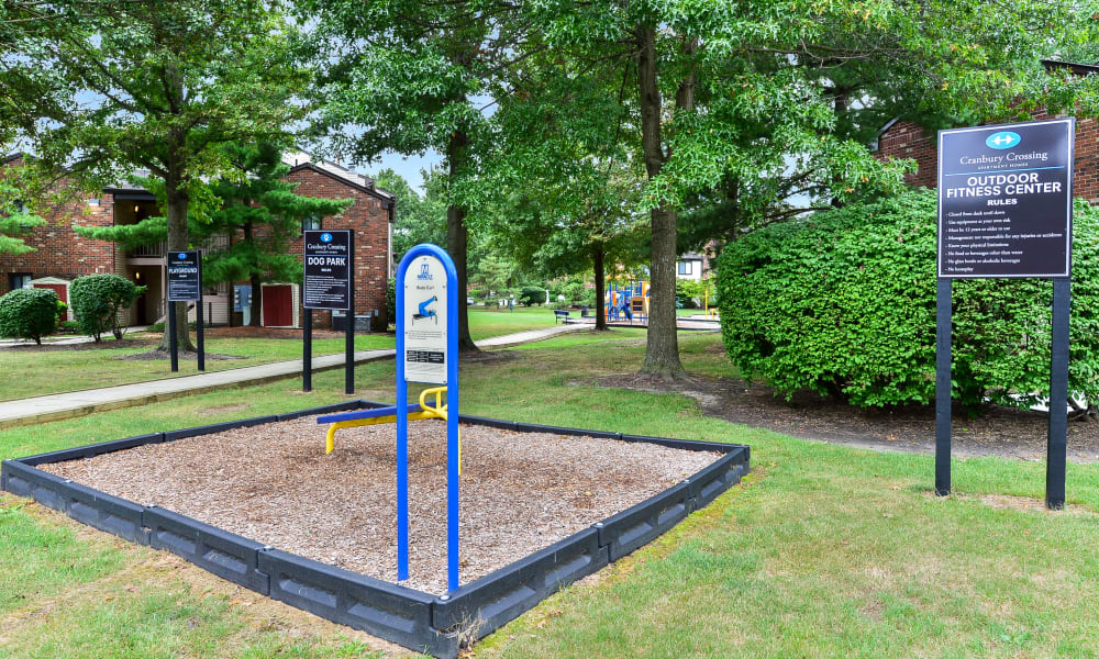 Outdoor park available at Cranbury Crossing Apartment Homes in East Brunswick, New Jersey