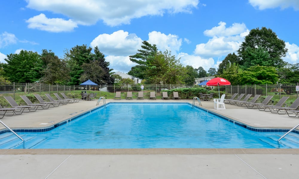 Swimming Pool at Cranbury Crossing Apartment Homes in East Brunswick, New Jersey
