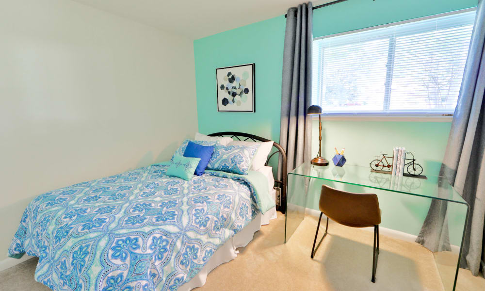 Cozy bedroom at Gwynn Oaks Landing Apartments & Townhomes, MD