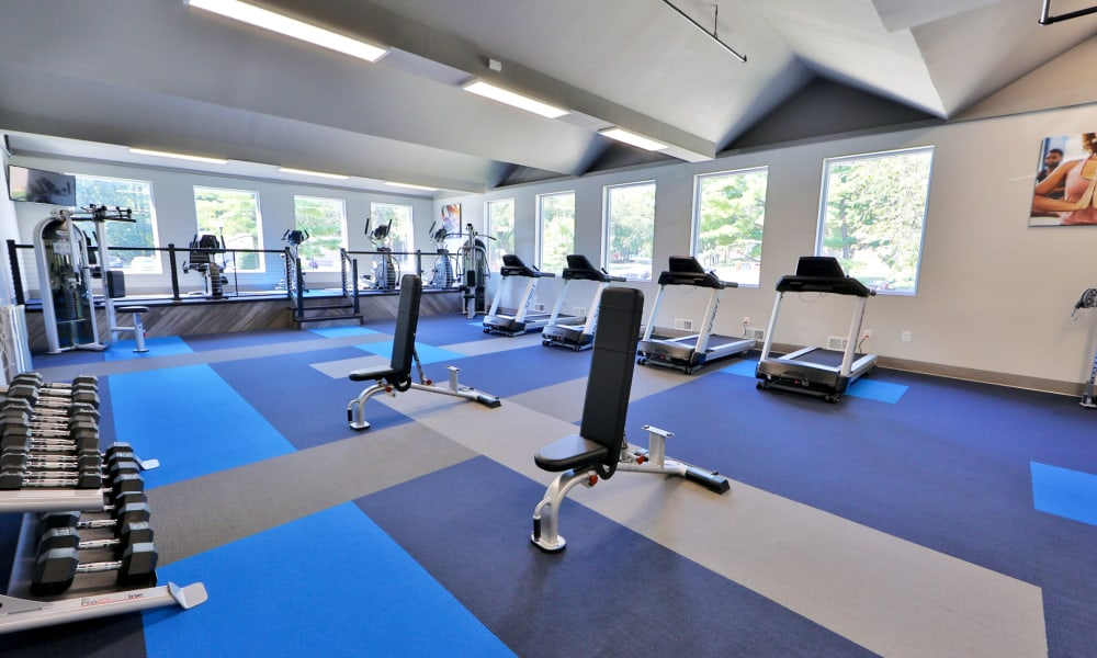 Fitness center at Gwynn Oaks Landing Apartments & Townhomes, MD