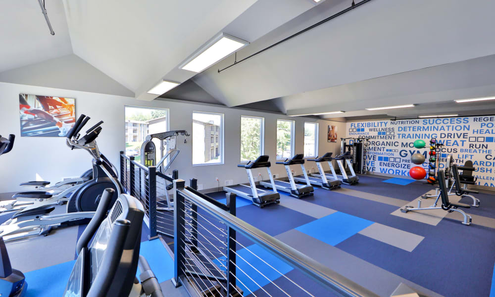 State of the art fitness center at Gwynn Oaks Landing Apartments & Townhomes, MD
