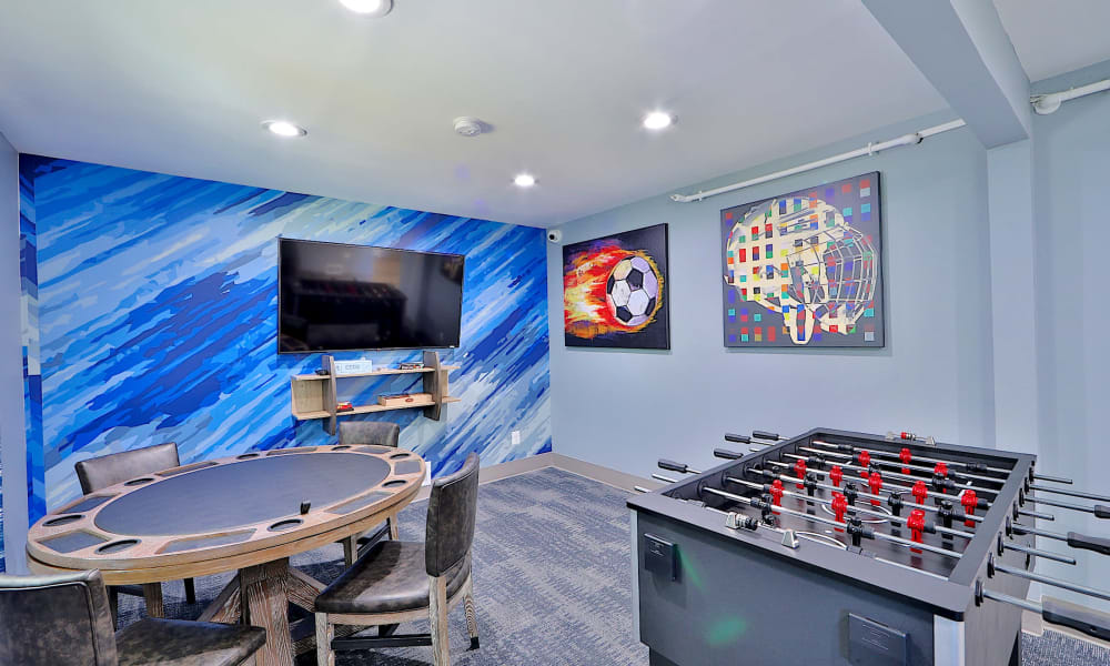 Entertainment room with many games at Gwynn Oaks Landing Apartments & Townhomes, MD