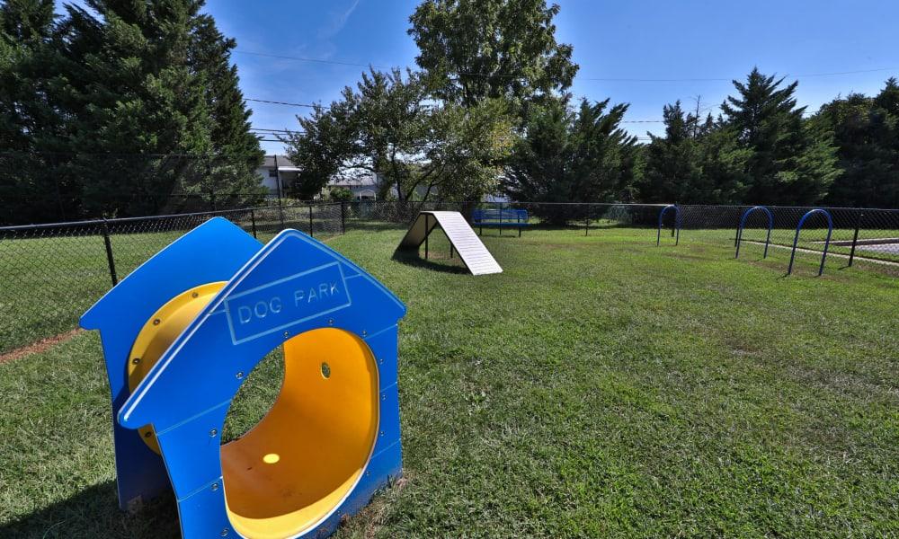 Dog park at Gwynn Oaks Landing Apartments & Townhomes, MD