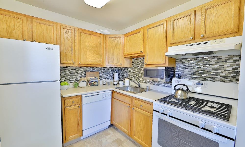 Kitchen at Gwynn Oaks Landing Apartments & Townhomes, MD