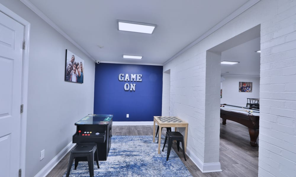 Game Room in the Clubhouse at The Reserve at Greenspring in Baltimore, Maryland