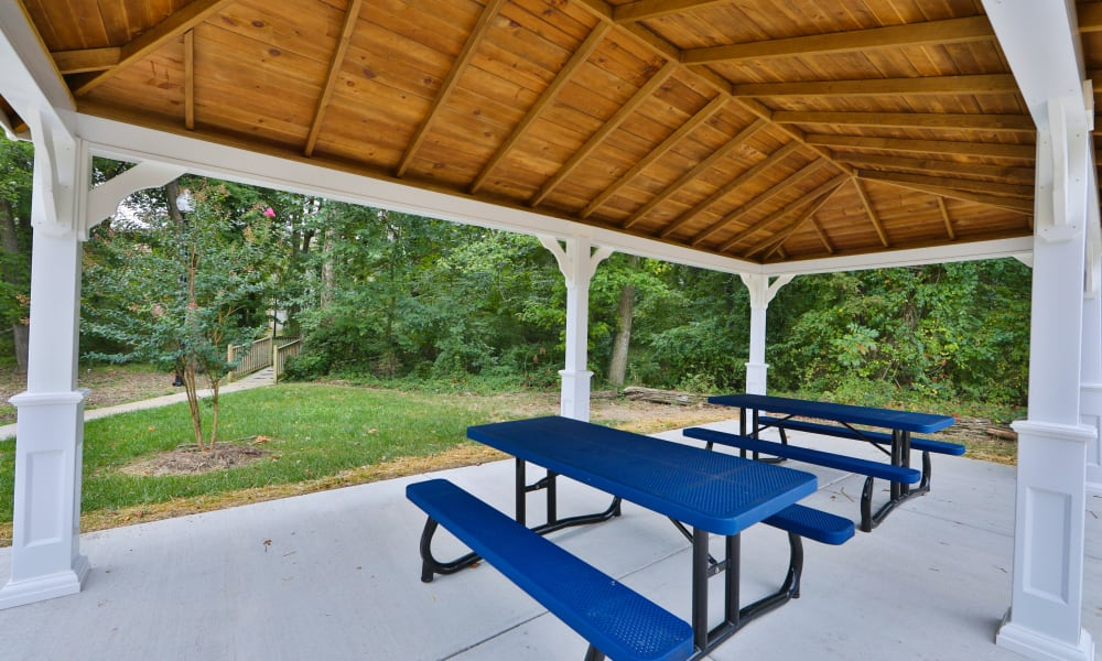 Picnic Area at The Reserve at Greenspring in Baltimore, Maryland