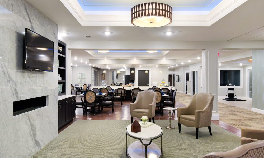 Beautiful common area at Anthology of Rochester Hills in Rochester Hills, Michigan