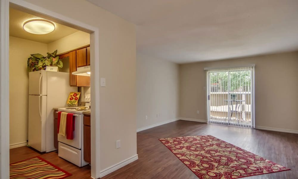 Floor plans with wood-style flooring at Cambridge Place in Houston, Texas.