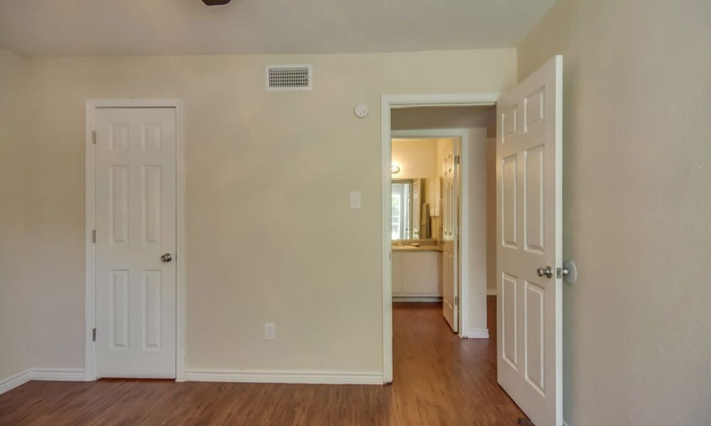 Large resident bedrooms at Cambridge Place in Houston, Texas.