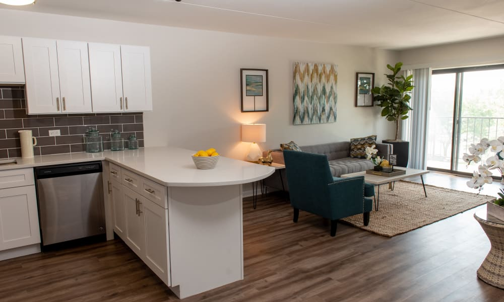 Pine Hill Apartments kitchen and dining room in Wheeling, Illinois
