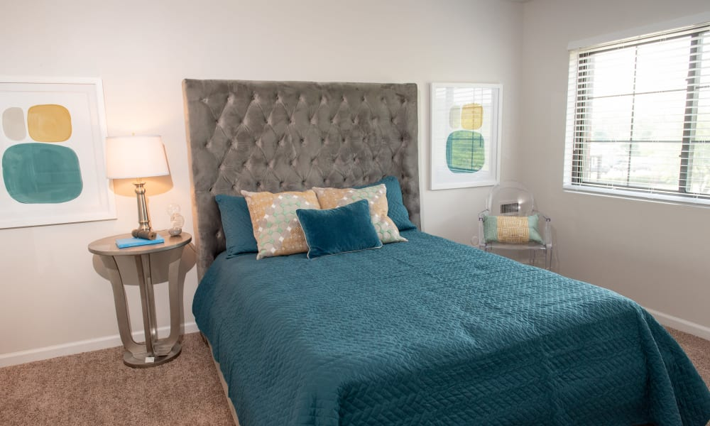 Wonderful bedroom at Pine Hill Apartments in Wheeling, Illinois